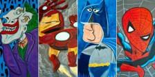 As ilustrações da WonderBros representam alguns heróis e vilões da Marvel e DC Comics se fossem pintados pelo famoso pintor espanhol Pablo Picasso.