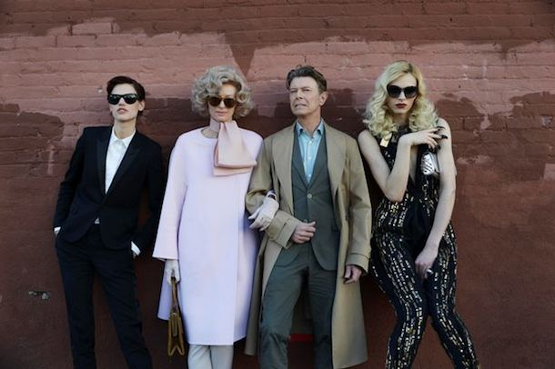 Bowie and Tilda Swinton in The Stars Are Out Tonight