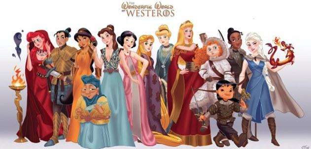 Princesas disney so personagens de game of thrones magazinehd altavistaventures Choice Image