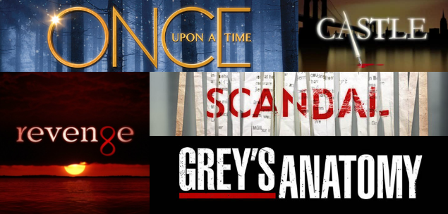 Grey's Anatomy, Revenge, Scandal, Once Upon a Time e ...