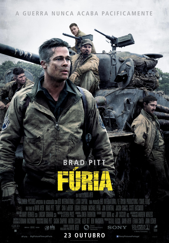 Fúria. Brad Pitt