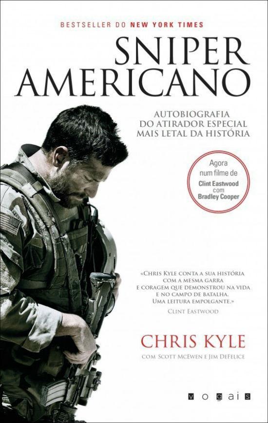 Passatempo do Livro Sniper Americano a Capa