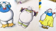 """Um ilustrador desenhou Baymax, a personagem principal de """"Big Hero 6 - Os Novos Heróis"""", vestido de alguns dos mais conhecidos personagens do universo Disney."""