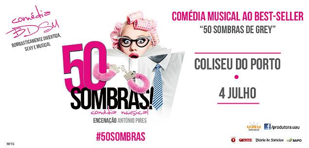 50 Sombras! Comédia Musical Coliseu do Porto 4 de Julho Imagem