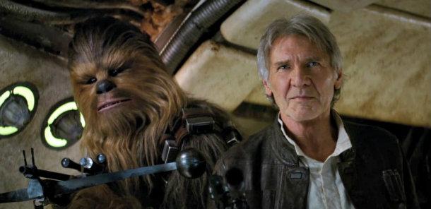 Han Solo e Chewbacca Star Wars Episode VII