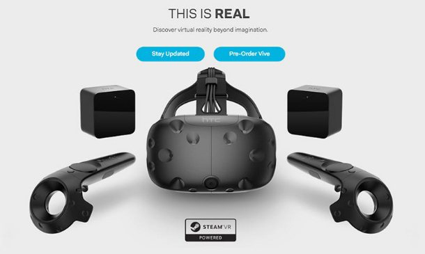realidade virtual htc vive