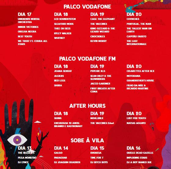 Vodafone Paredes de Coura cartaz