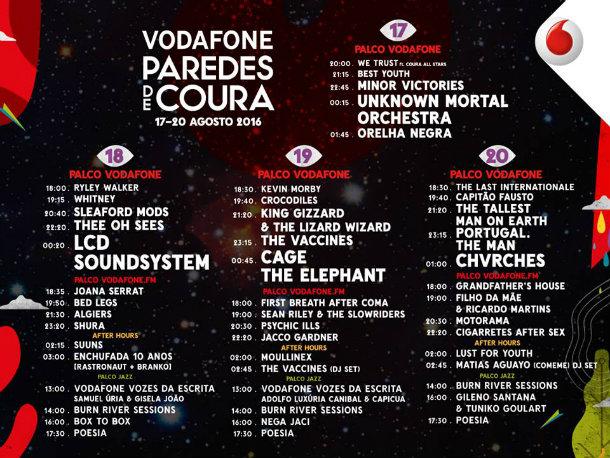 Vodafone Paredes de Coura concertos a não perder
