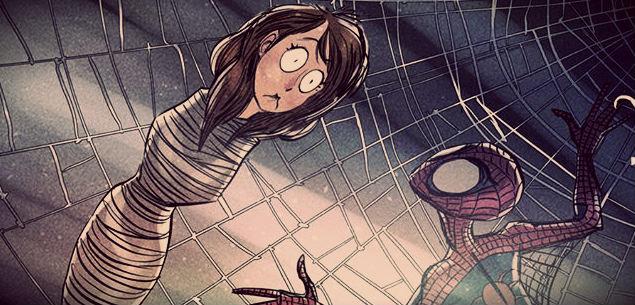 spiderman tim burton art