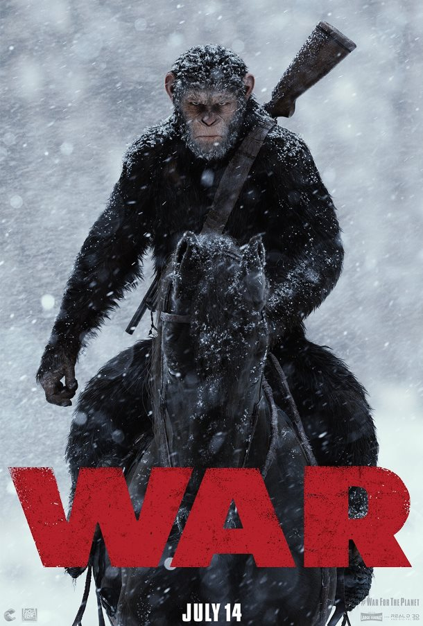 war of the planet of the apes melhores posters