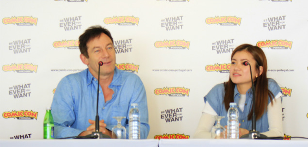 comic con portugal conferencia de imprensa painel jason isaacs katie leung harry potter