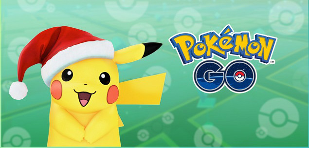 pokemon go pikachu natal holiday