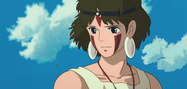 top personagens femininas anime san princesa mononoke princess
