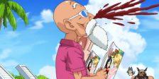 À semelhança da violência, o manga de Dragon Ball Z é marcado por alguma nudez que seria impossível de mostrar num anime para crianças.