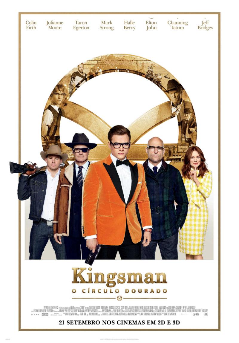 Kingsman Circulo Dourado poster pt 2