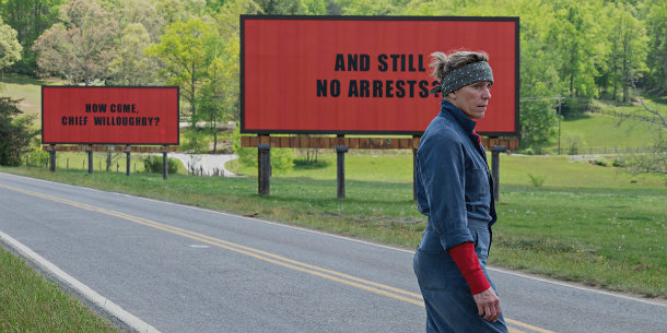 tres cartazes a beira da estrada leffest critica three billboards