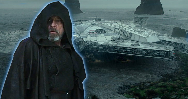 Star Wars Os Ultimos Jedi Luke Skywalker Millennium Falcon