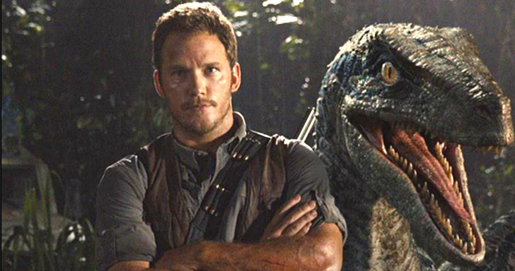 Mundo Jurássico Chris pratt & Blue