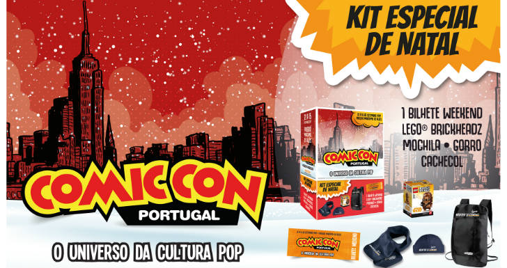 Kit de Natal da Comic Con Portugal
