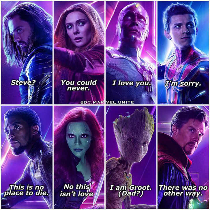 marvel infinity words