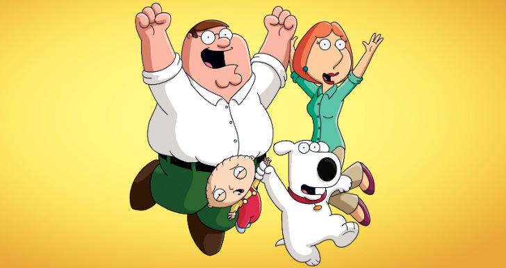 famílias family guy