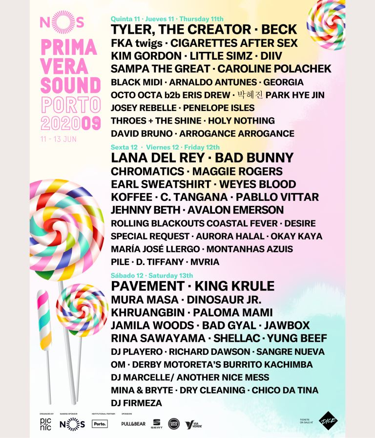 Cartaz do Nos Primavera Sound 2020