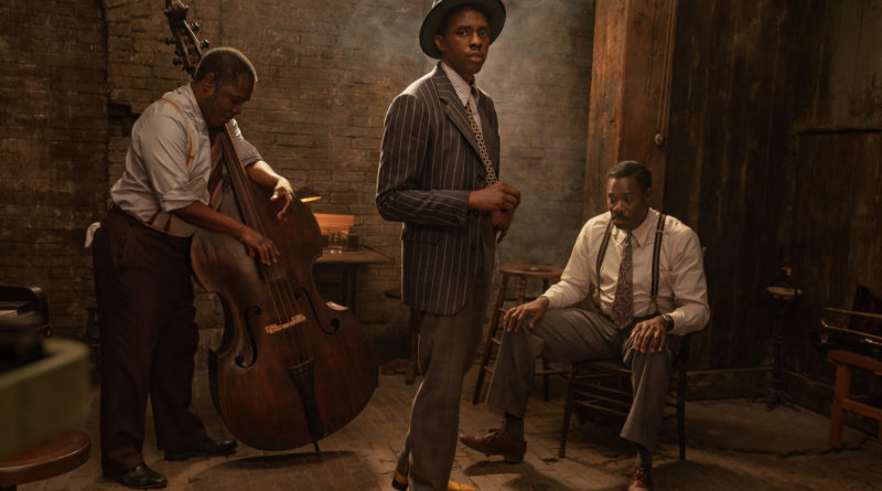 "Chadwick Boseman, em ""Ma Rainey's Black Bottom"", da © Netflix"