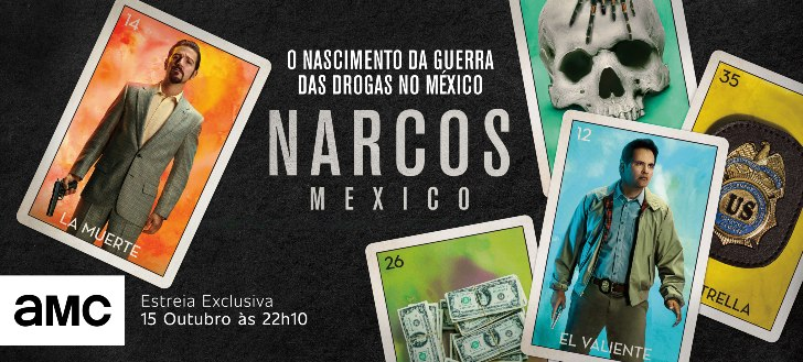 Narcos Mexico AMC Portugal - horizontal amc