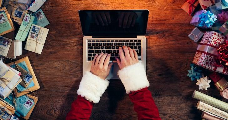 Gadgets para comprar no Natal - Santa Typing