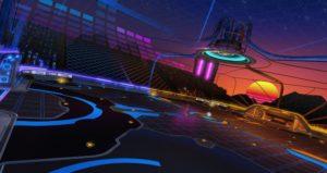 Mapa Neon Fields disponível em Rocket League